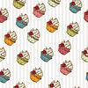 Nahtlose Muster von Cupcakes gemacht. Jahrgang
