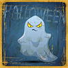 ID 3504216 | EPS10 vintage grunge alten Karte. Halloween ghost | Stock Vektorgrafik | CLIPARTO