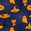 Tło obiektów związanych z Halloween | Stock Vector Graphics