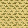Vintage seamless pattern with cartoon Krokodile