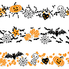 Borders of Halloween-related objects and creatures | Stock Vector Graphics