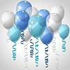 Stilvoller Hintergrund mit fliegenden Luftballons