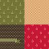 Set von 4 Weihnachten und Neujahr seamless patterns