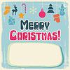 Weihnachten Hintergrund mit retro hübsch Icons