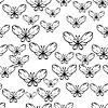 Nahtlose schwarzen und weißen Muster mit Schmetterlingen