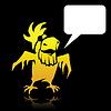 Angry cartoon gelber Papagei Piraten mit Platz für