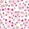 Nahtloses Muster mit Doodle-Zeichnungen. Kawaii
