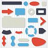 Set von Icons, Schaltflächen und Menüs für Webseiten