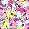 kawaii Muster der Halloween Katzen und Kreaturen