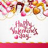 ID 3508037 | Valentinstag-Hintergrund. Geschenk-Karte oder Flyer | Stock Vektorgrafik | CLIPARTO