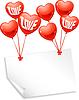 Luftballons in Form von Herzen