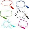 Set von Hand gezeichnet Sprechblasen mit Bleistiften