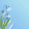 Pastel Hintergrund mit blauen Schneeglöckchen
