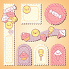 Set von dekorativen Design-Elemente mit kawaii food