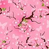 nahtloses Blumenmuster von Kirschblüten