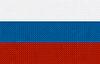Russische Flagge als Hintergrund mit Stickerei