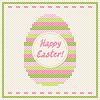 Happy Easter Stickerei Kreuzstich Grusskarte