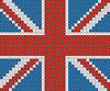 Great Britain Flagge Hintergrund mit Stickerei