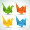 Origami Papier Vögel Sammlung