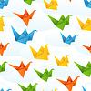 Origami Papier Vögel Flug abstrakten Hintergrund