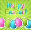 Happy Easter-Grußkarte mit Eiern | Stock Vektrografik