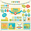 ID 3576439 | Set Happy Easter Ornamente und dekorative | Stock Vektorgrafik | CLIPARTO