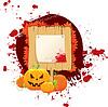 Halloween-Hintergrund mit Kürbissen