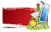 圣诞旗帜 | 向量插图
