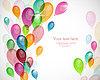 Hintergrund mit bunten Luftballons