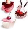 Set mit 3 Kuchen | Stock Vektrografik