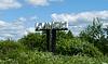 Kimry, stele z nazwą przy wjeździe do miasta | Stock Foto