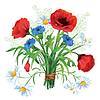 다채로운 꽃 꽃다발 | Stock Vector Graphics