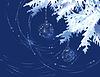 Weihnachtsbaum Zweig mit Dekoration Bälle