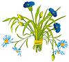 필드 꽃의 꽃다발 | Stock Vector Graphics