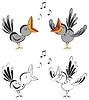 Singende Krähen | Stock Vektrografik