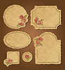 Zestaw retro kwiatowy klasycznych ramek i etykiet | Stock Vector Graphics