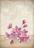 Realistyczny układ kwiat wiśni kwiat | Stock Vector Graphics