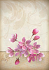 Realistische Kirschblüte Blumen-Arrangement