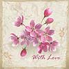 Realistische Blumen auf sketchy floral paper | Stock Vektrografik