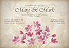 Floral dekoracyjne ślubu lub zaproszenie projektu | Stock Vector Graphics