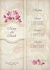 Menu szablon dekoracyjny kwiatowy wzór ślub | Stock Vector Graphics