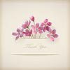 Floral spring `Danke` rosa Blumen-Karte