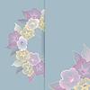 파스텔 꽃과 함께 꽃 템플릿 인사말 카드 | Stock Vector Graphics