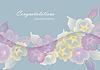 Floral Vorlage Grußkarte mit pastellfarbenen Blüten | Stock Vektrografik