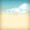 빈티지 하늘 구름 오래 된 용지 질감 배경 | Stock Vector Graphics