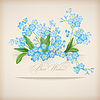Niebieskie kwiaty wiosna Forget-me-not Greeting Card | Stock Vector Graphics
