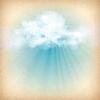 구름 배경을 통해 햇빛 광선 | Stock Vector Graphics
