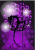 ID 3507089 | Mädchen tanzen mit Pole | Stock Vektorgrafik | CLIPARTO