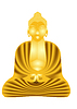 Złoty Budda | Stock Vector Graphics