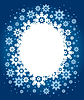 Christmas tła z płatki śniegu | Stock Vector Graphics